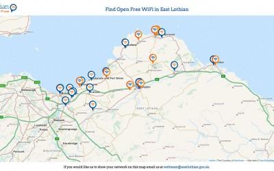 Find Free WiFi in East Lothian